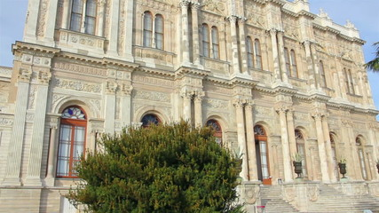 Dolmabahce sultan palace museum in Istanbul Turkey