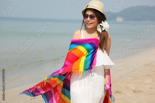 lady on Chaolao Beach
