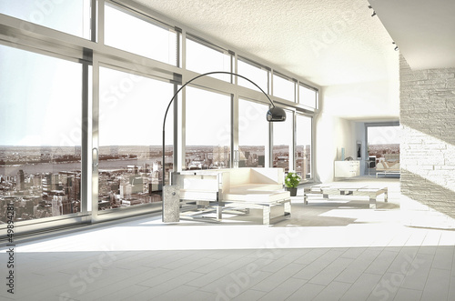 Amazing Loft with Skyline City View | Interior Architecture