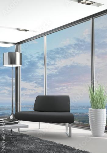 Mountain Loft with Landscape View   Interior Architecture
