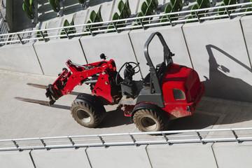 Forklift at a stadium, Aviva Stadium, Dublin,Republic of Ireland