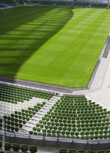 Foto op Canvas Stadion Chairs in a rugby stadium,Aviva Stadium,Dublin,Republic of Irela