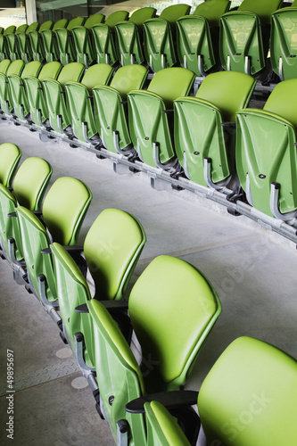 Chairs in a rugby stadium,Aviva Stadium,Dublin,Republic of Irela