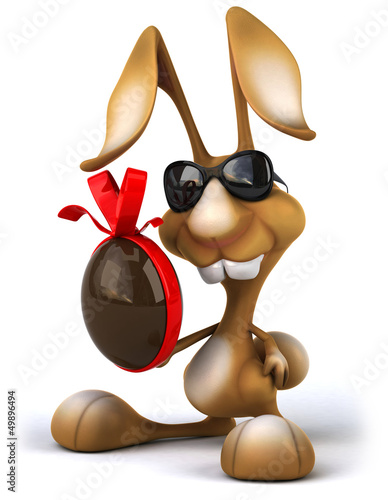 Deurstickers Boerderij Fun rabbit