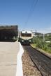 Train at railroad station, Kanchipuram, Tamil Nadu, India