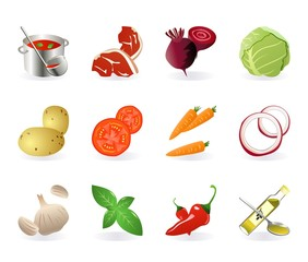 set of borsch icons