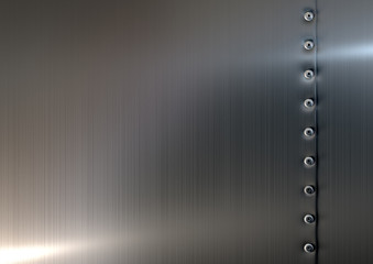 Rivets On Brushed Metal Top