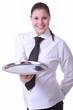 freundliche Kellnerin
