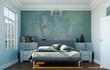 modernes Schlafzimmer in Altbau-Wohnung