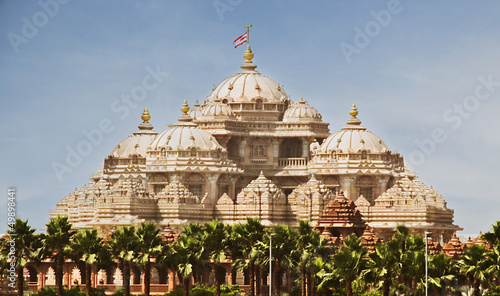 Facade of a temple, Akshardham, Delhi, India