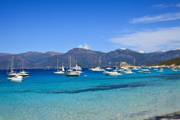 Lotu beach, Saint Florent city, Corsica, France