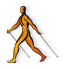 nordic walkers stylized