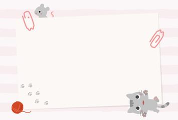 遊ぶ猫とネズミのカード