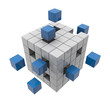 Quader / Block - Struktur: 3D-Grafik / 3D-Illustration