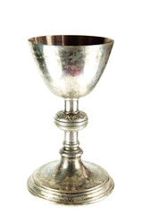 Old Chalice on white background