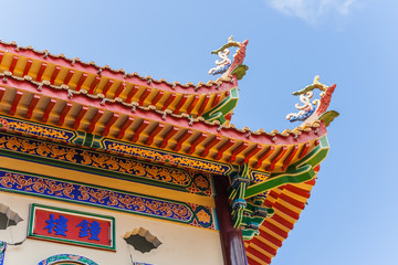 Buddhist temple detail