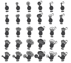 Vector set of multitouch gestures