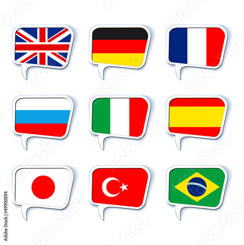 Speech bubbles. Languages