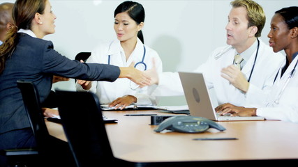 Doctors Meeting Hospital Financial Consultant