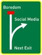 social media concept, traffic sign