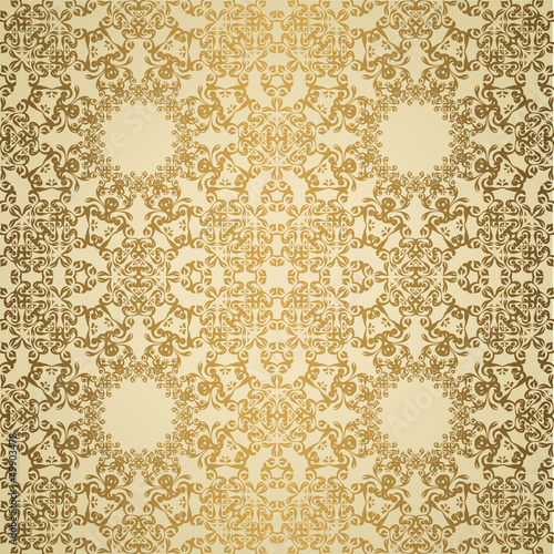 Vintage lace seamless background. Retro design