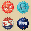Retro bottle cap Design - Vintage and grunge style
