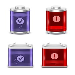 battery vector icon set xxl
