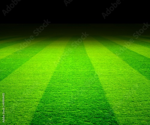 canvas print picture soccer field at night