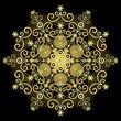 Gold vintage snowflake