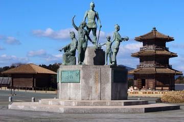 歴史遺産公園 鞠智城とシンボル像