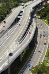 Highway in Singapore city