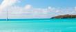 Leinwanddruck Bild - Sailboat on the Caribbean