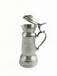 Tankard with lid on white background