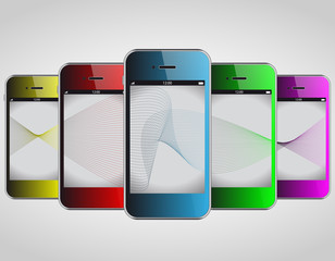 Colour Phone Vector