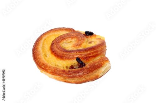 Fresh tasty bun with raisins