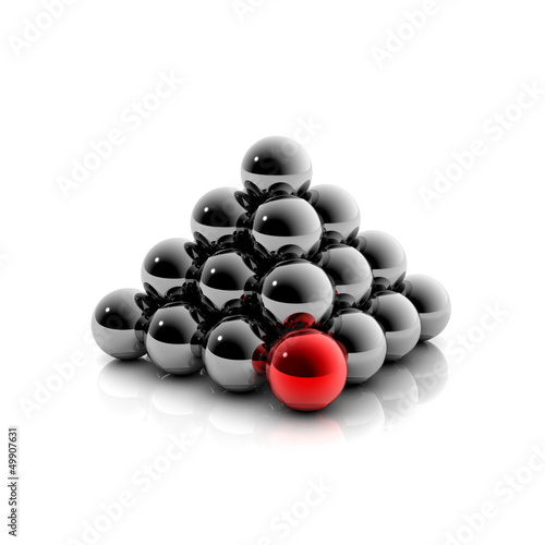 Hierarchie - Pyramide aus Kugel: 3D Grafik / 3D Illustration