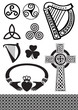 celtic icons set