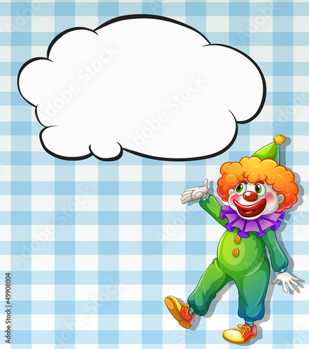 A clown with empty callouts