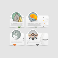 Vintage icons set with image slider menu