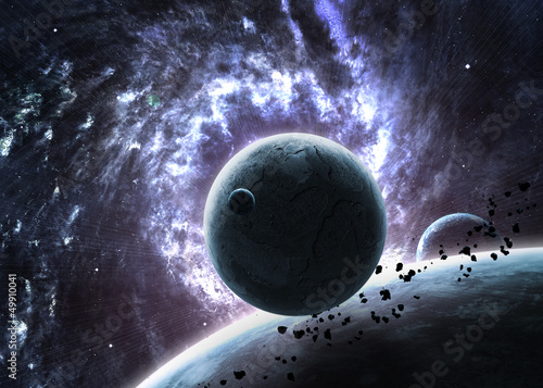 Awesome space background with the explosion of star © Vadimsadovski