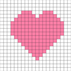 cross-stitch heart pattern vector