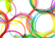 colorful circles stylish abstract background