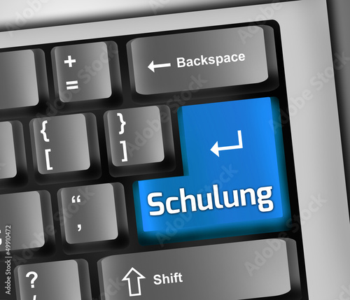 "Keyboard Illustration ""Schulung"""
