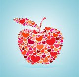 red heart apple