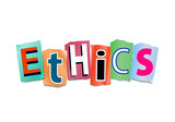 Ethics concept. poster