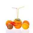 Frischer Fruchtsaft für zwei