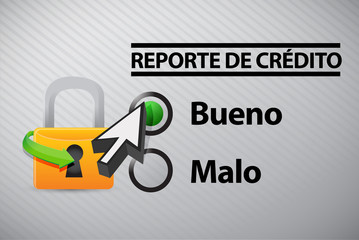 Credit Report selection in Spanish