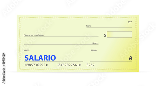 Salary check in spanish