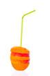 Fruit Juice mit Trinkhalm