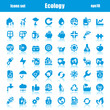 icons ecology blue reflex